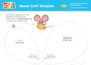 Mouse Craft Template