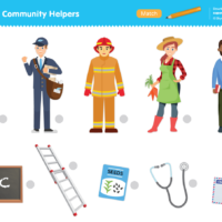 Community Helpers Worksheet - Match