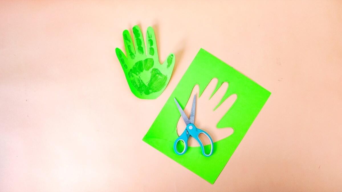 Flowering Handprint Cactus Craft for Mom