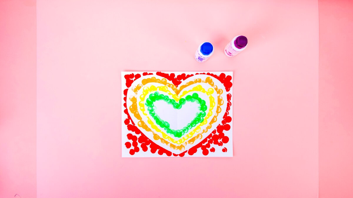 Rainbow Heart Craft