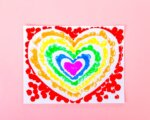 Rainbow Heart Craft