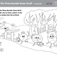 The Three Bumble Nums Gruff Coloring Pages
