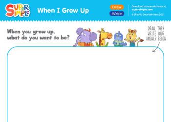 When I Grow Up - Draw & Write