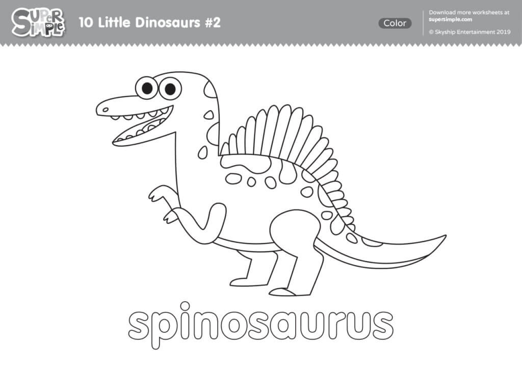 10 Little Dinosaurs #2 Coloring Pages