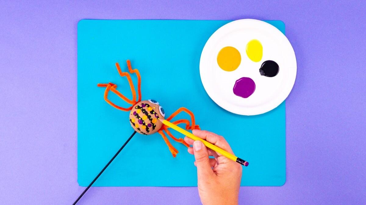 Spider Puppet Craft
