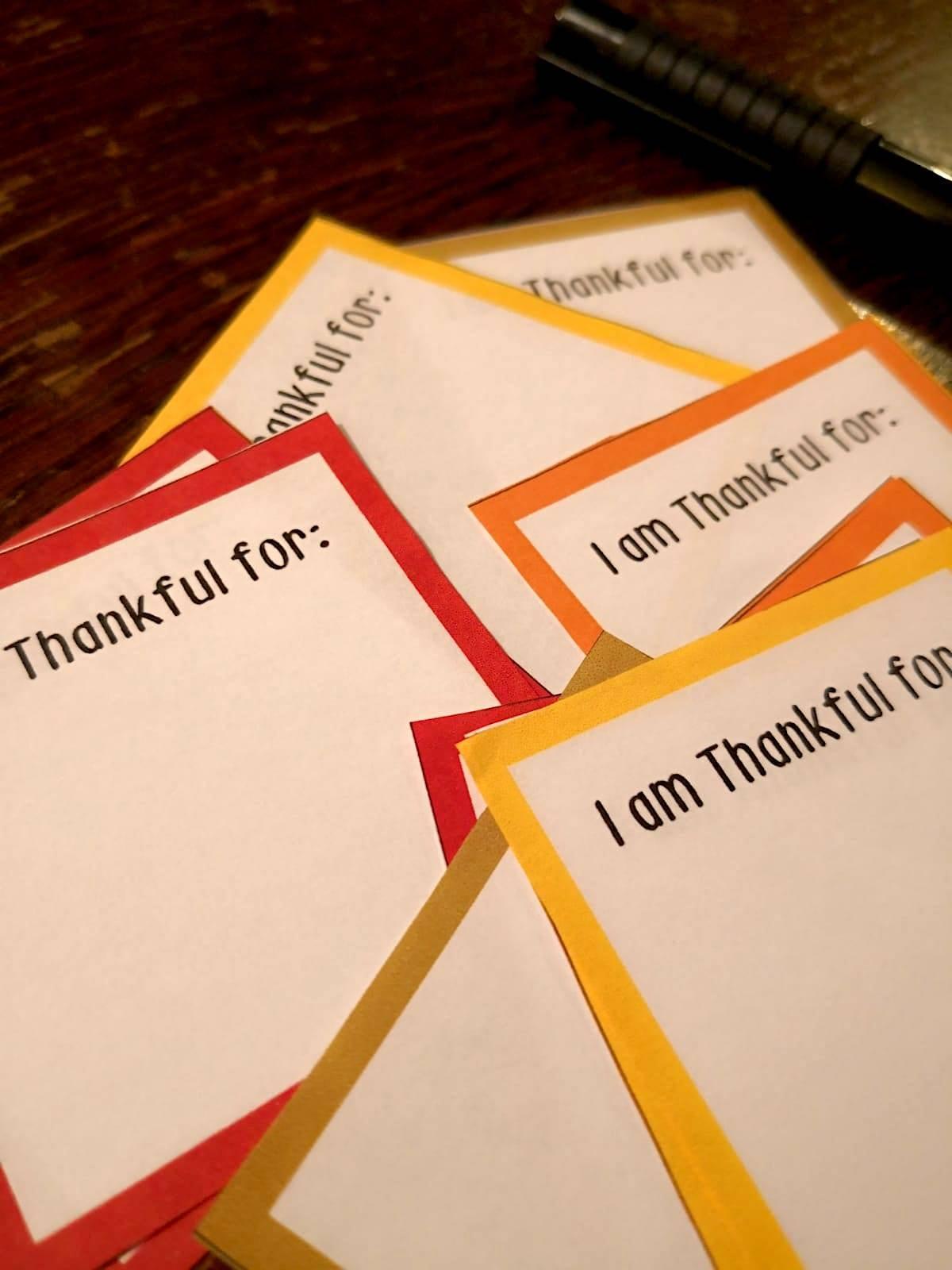 Thankfulness Printouts