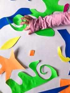 matisse paper cut outs - fine motor skills