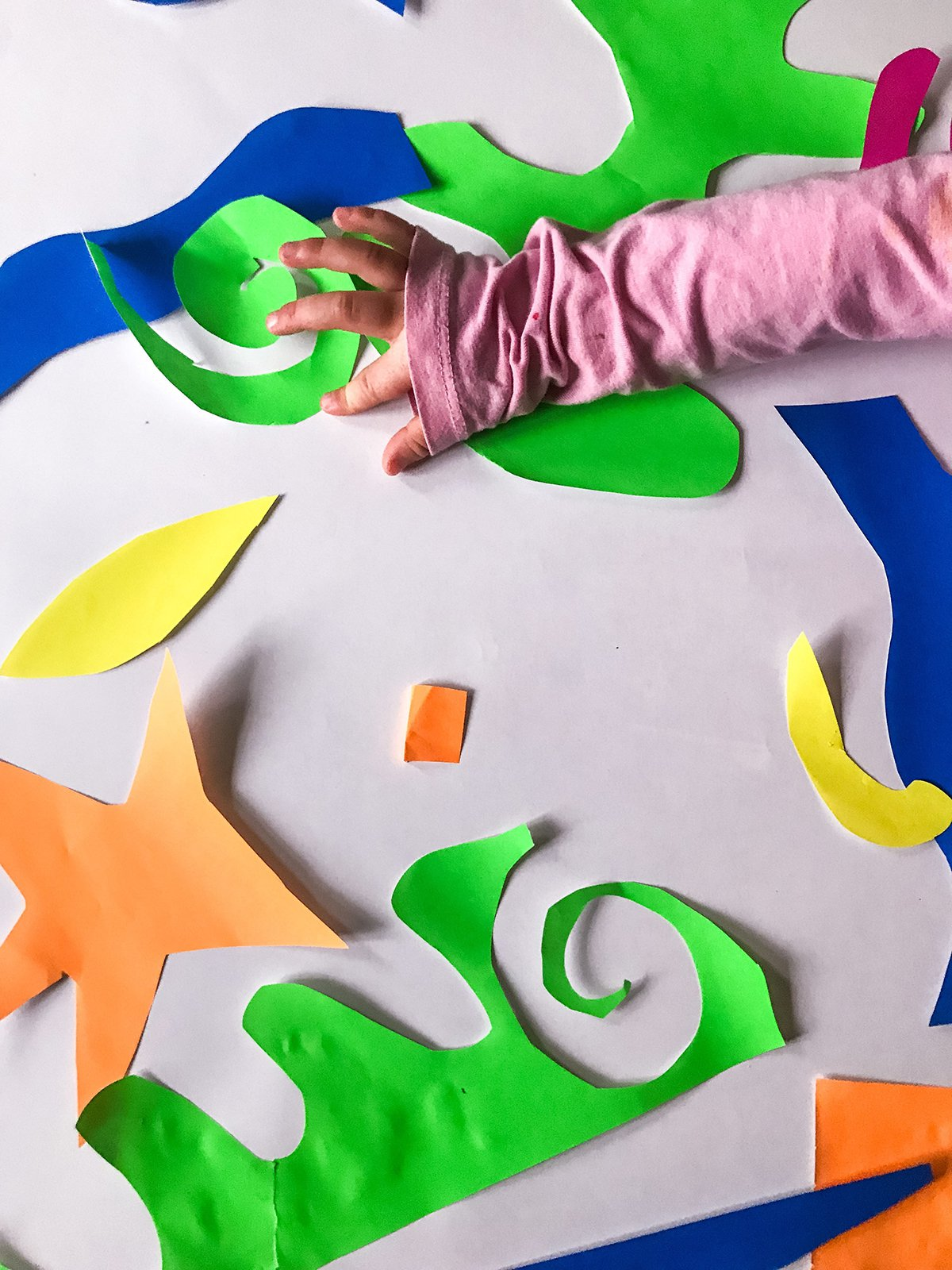matisse paper cut outs - fine motor skills