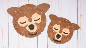 Torn Paper Bear Craft