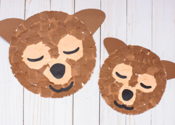 Torn Paper Bear Craft