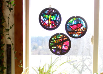 Crayon Suncatchers in window
