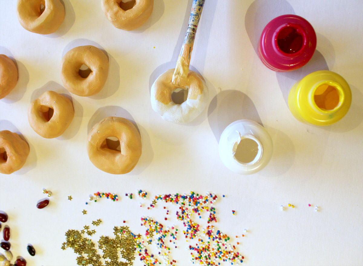 Painting Donut Magnets