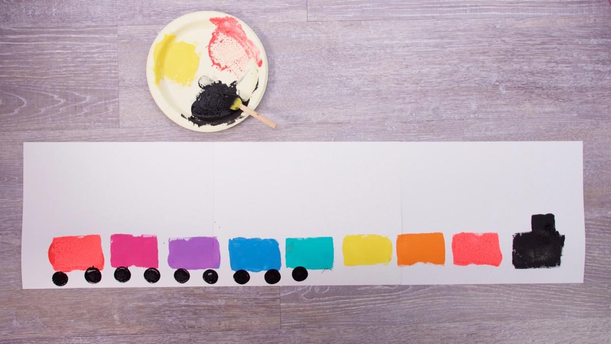 Sponge Stamp Train