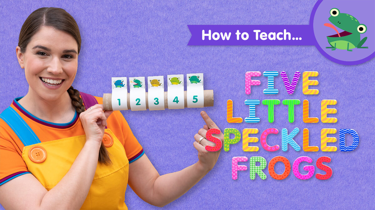 How To Teach Five Little Speckled Frogs Super Simple