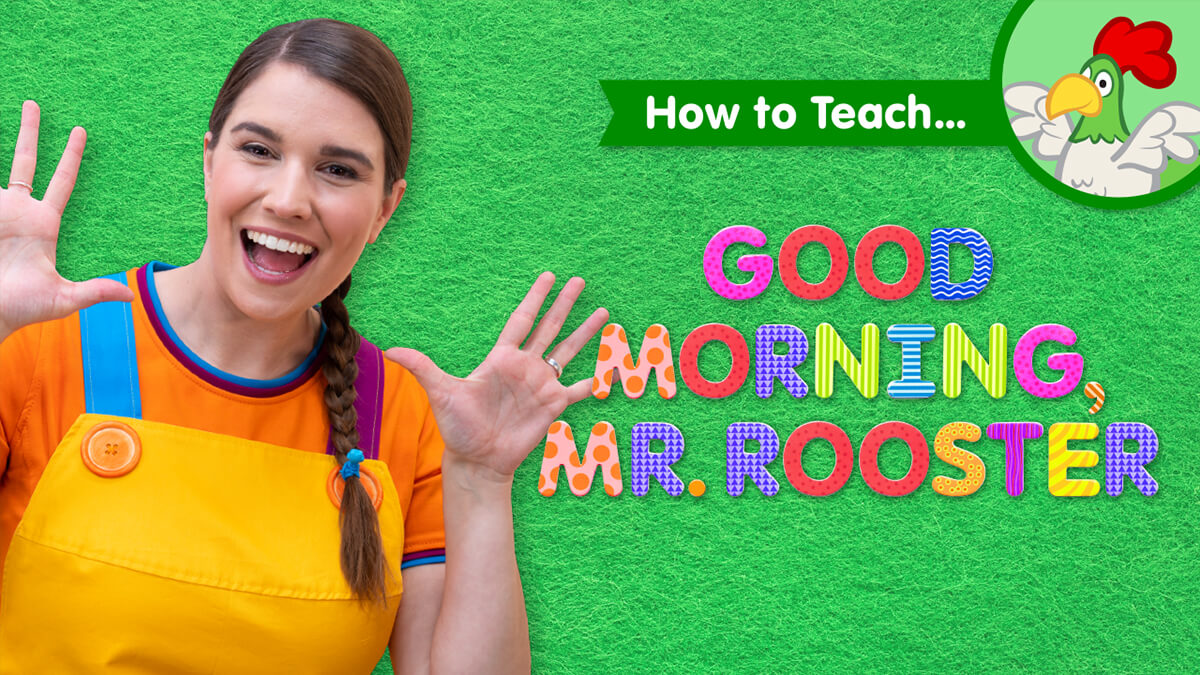 How To Teach Good Morning Mr Rooster Super Simple