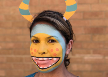 DIY Super Simple Monster Face Paint