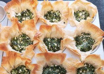 Spinach Feta Phyllo Cups