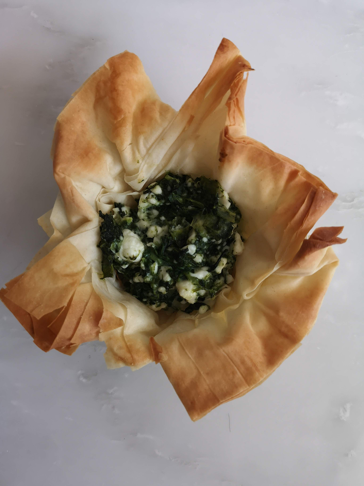 Spinach Feta Phyllo Cups