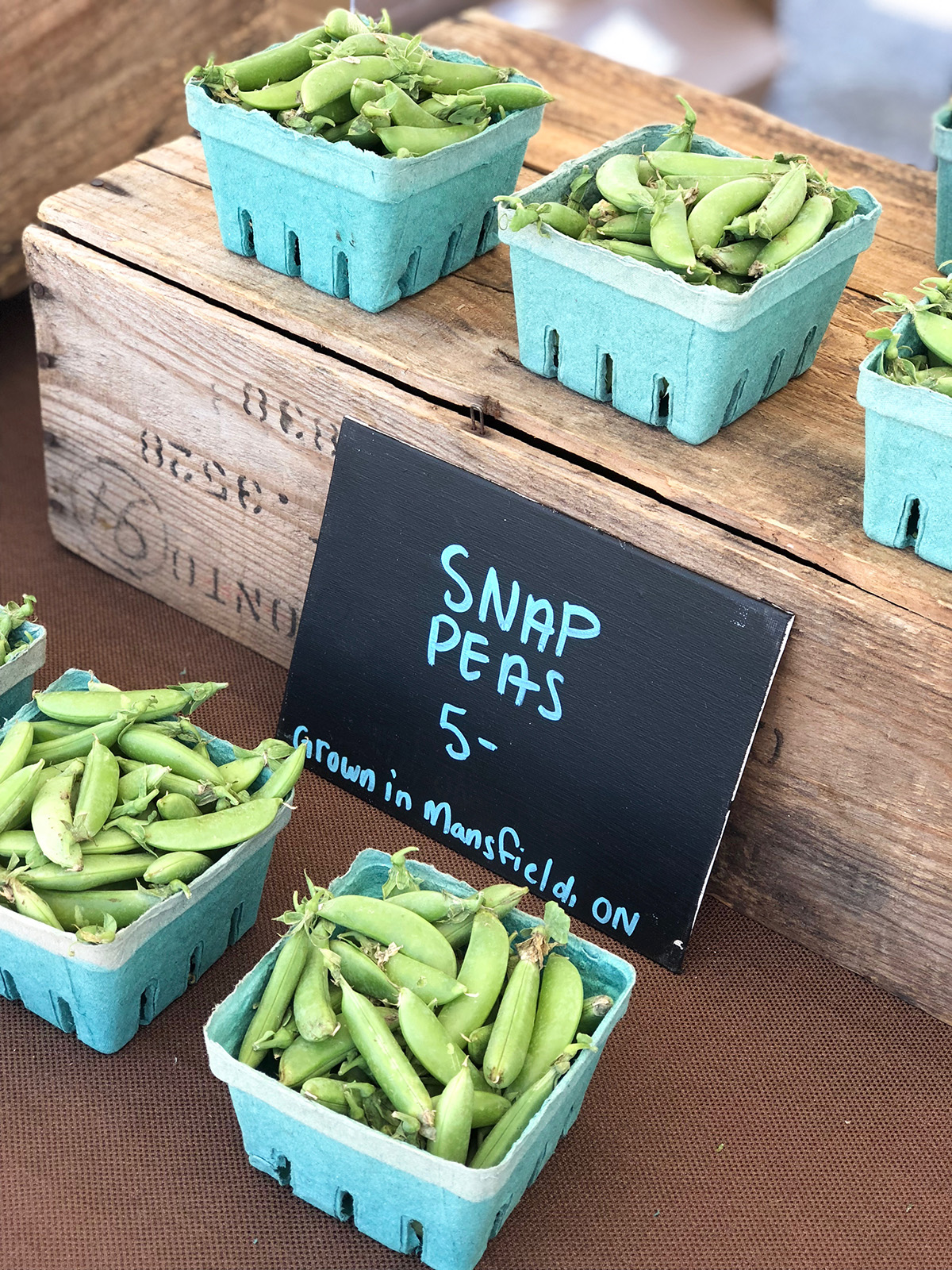 peas at the market