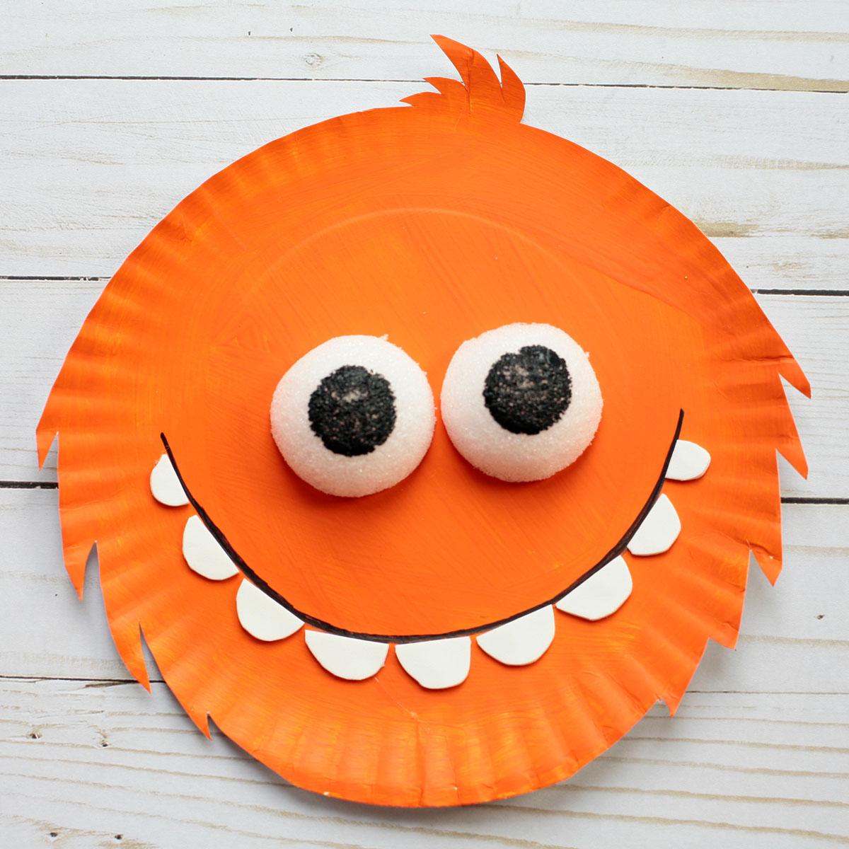 Orange Super Simple Monster