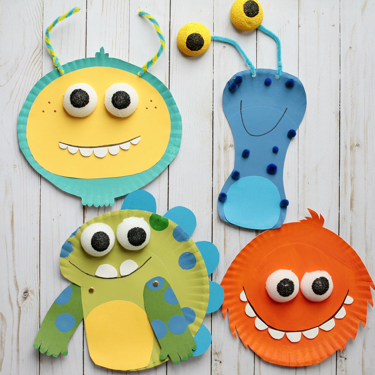 Monster Paper Plate Craft Super Simple
