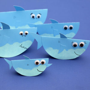 DIY Rocking Paper Baby Shark Family