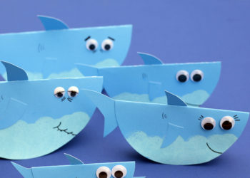 DIY Rocking Paper Baby Shark Family