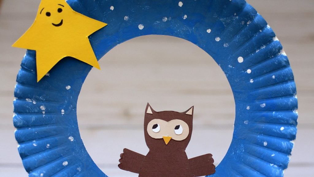 Star and Owl Wreath