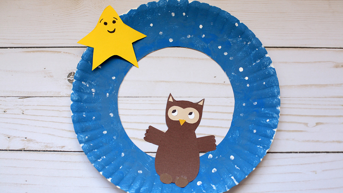 star and owl wreath
