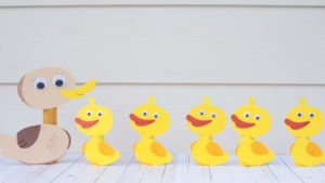 Five Little Ducks & Mother Duck Craft