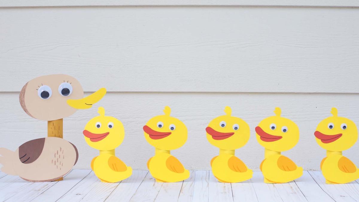 Five Little Ducks & Mother Duck Craft