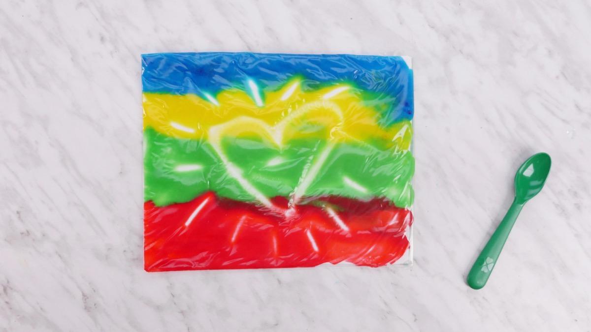 Colors in a Bag - No Mess Sensory Play
