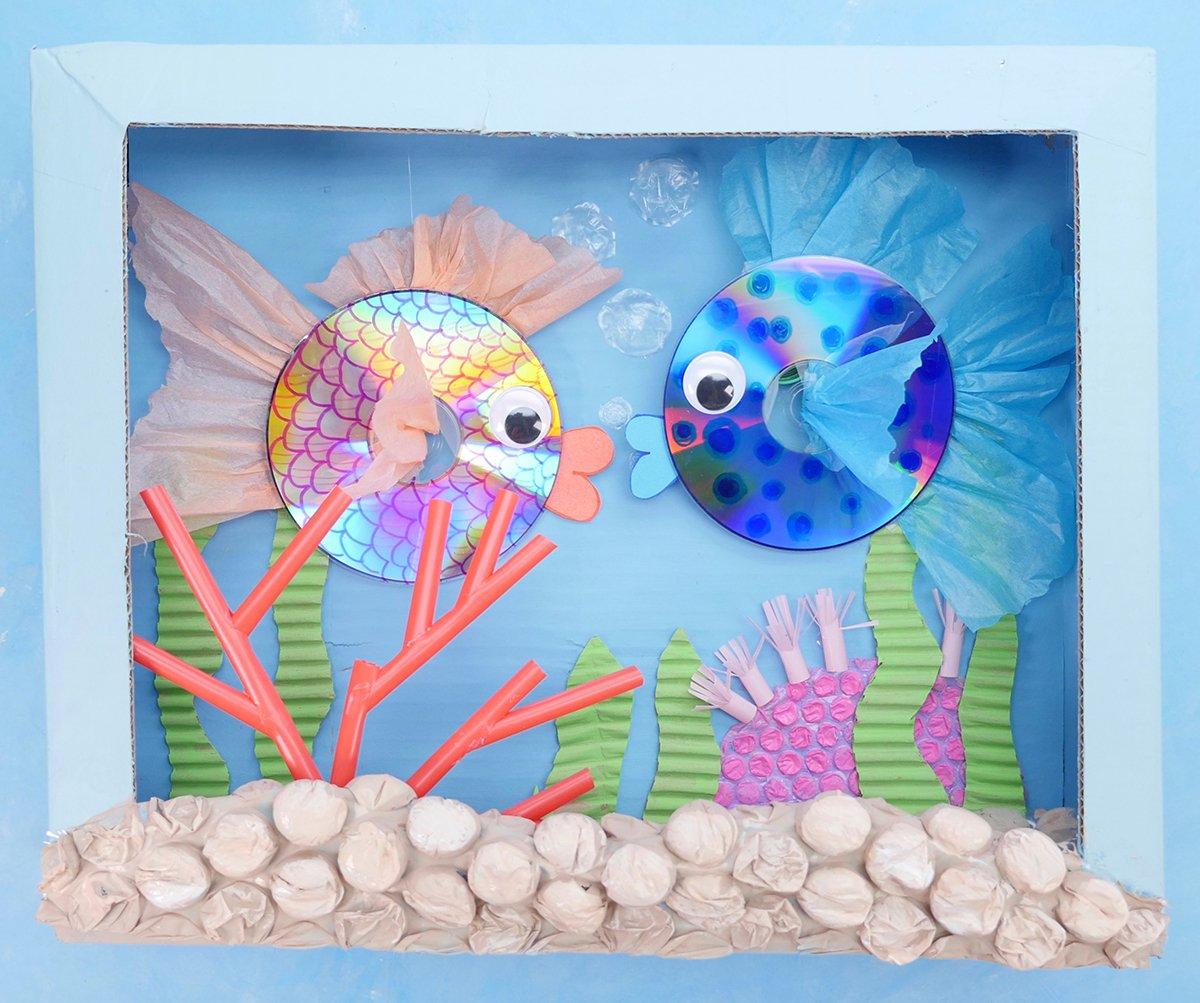 Finished CD Fish Diorama