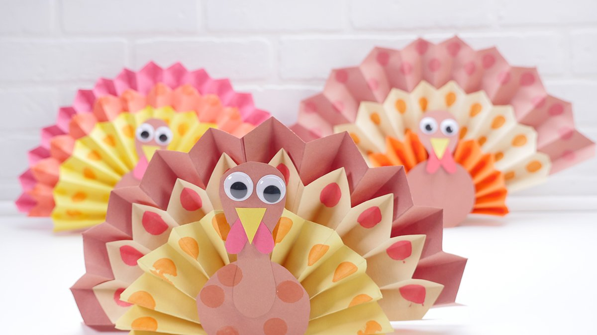 Paper Turkey Centrepieces