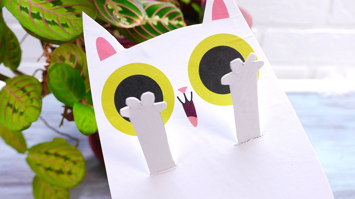 Diy Peekaboo Cat Puppet Super Simple