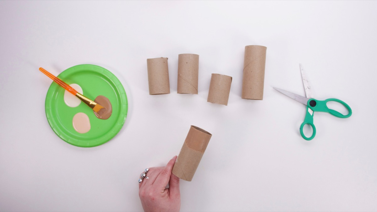 Cardboard Tube Family Craft