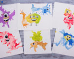 Blow Paint Monsters