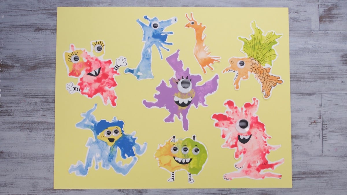 Blow Paint Monsters