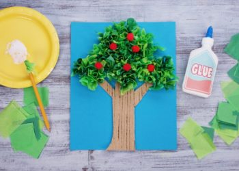 Tissue Paper Tree Craft