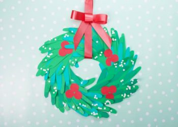 Winter Wreath Craft with Hand Cut Outs