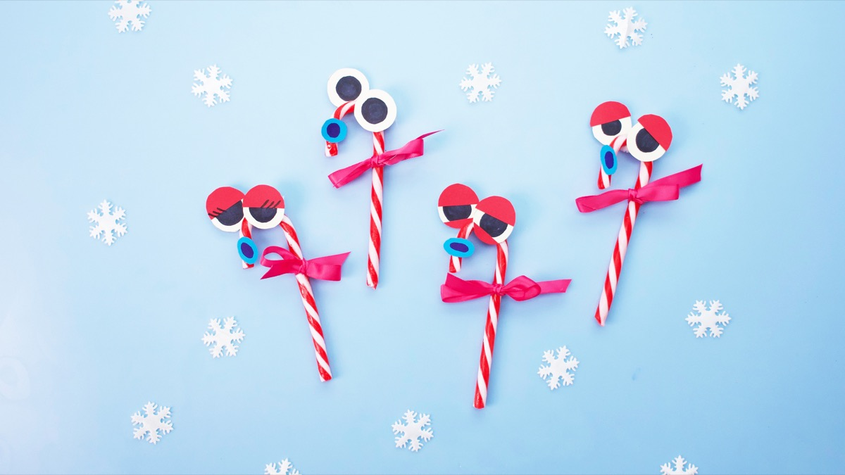 At The North Pole - Singing Candy Cane Ornaments Craft