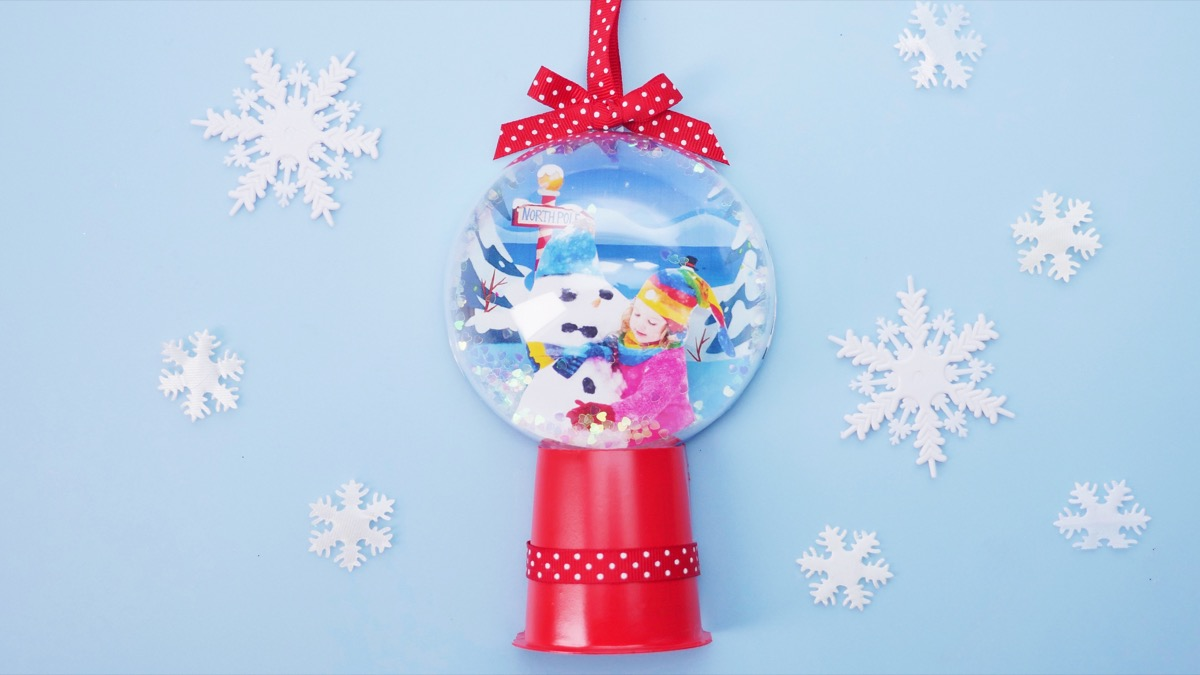 At The North Pole Snow Globe Ornament