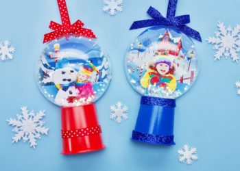 At The North Pole Snow Globe Ornament