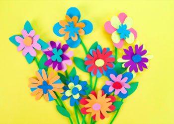 Paper Flowers Bouquet Craft