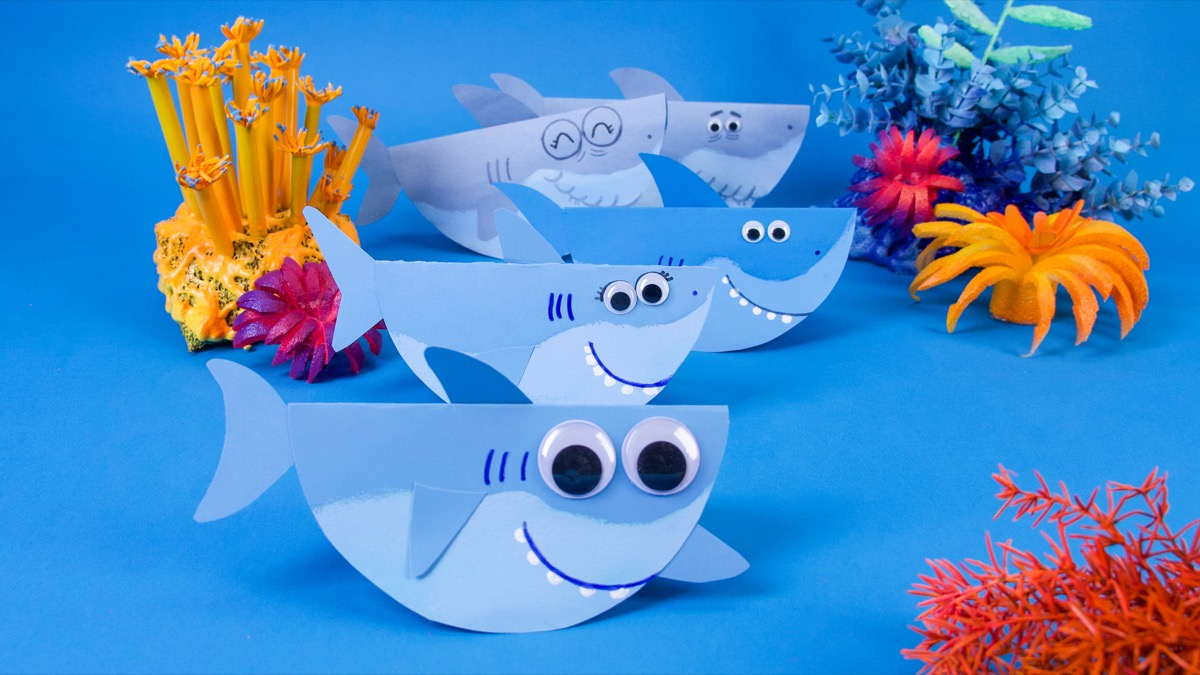 Finny and Family Swimming Shark Craft