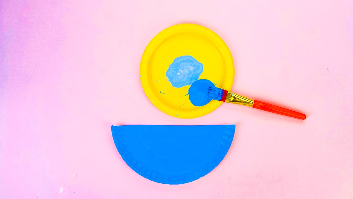 Paper Plate Swimming Duck Craft