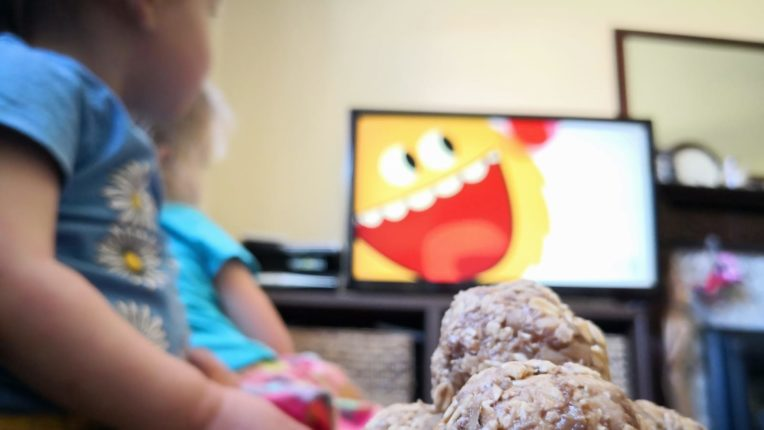 Children watching Super Simple
