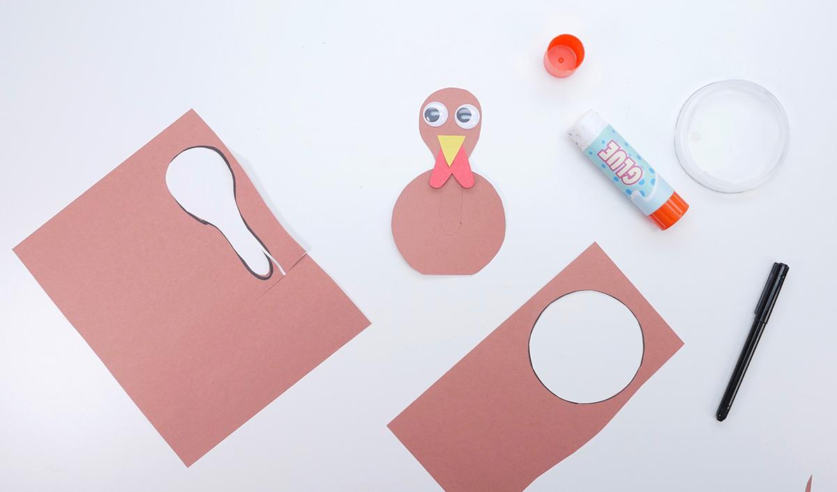 DIY Paper Turkey Centrepiece