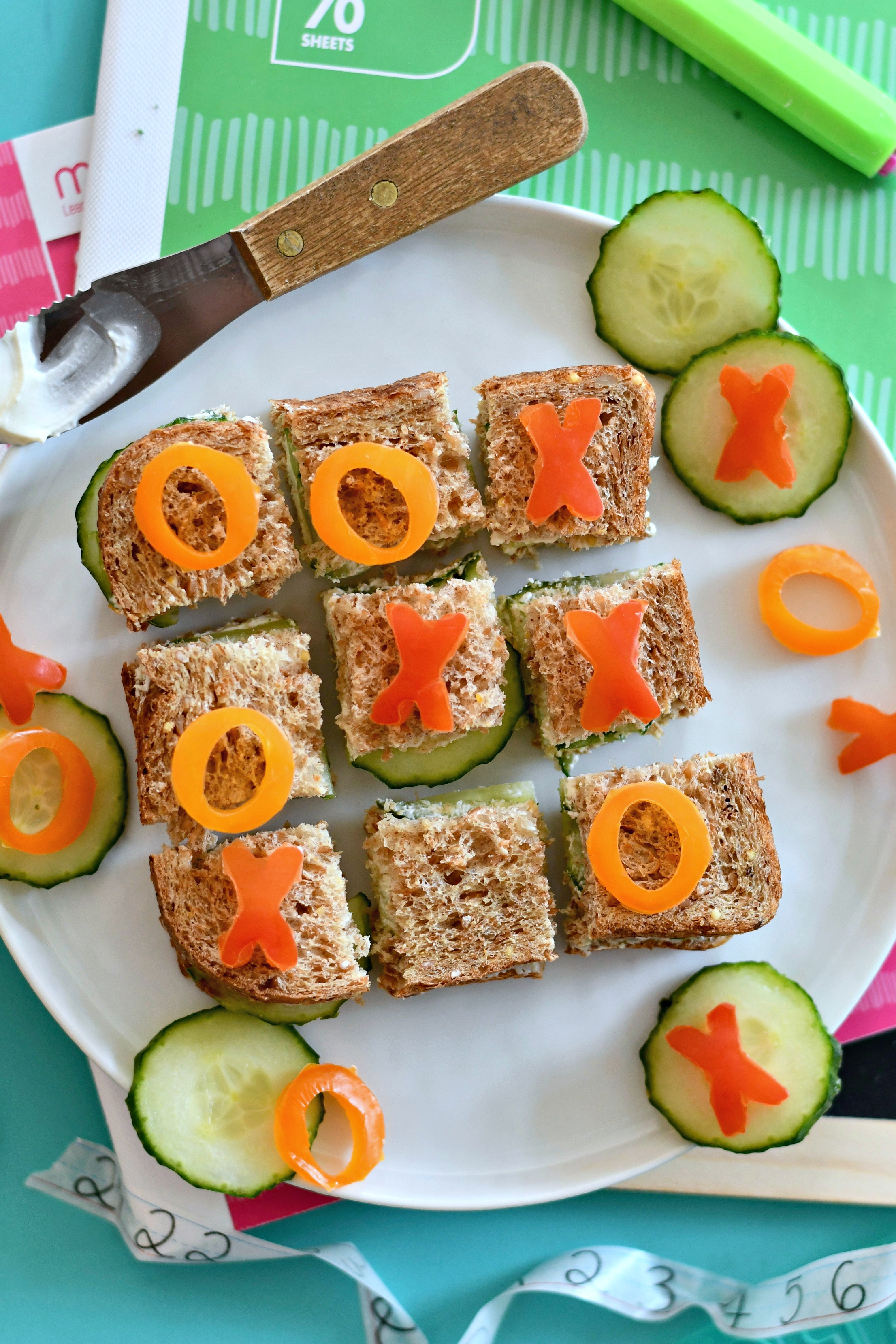 Tic Tac Toe Sandwiches
