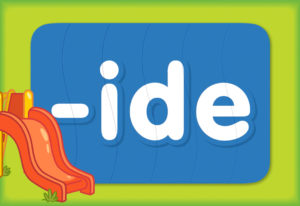 """Turn & Learn – Word Family """"ide"""""""